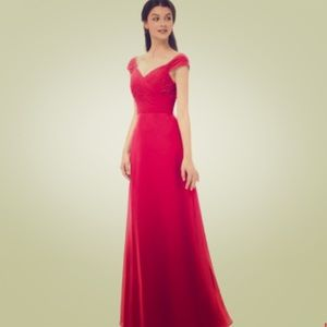 NWT Red Floor Length Dress Gown